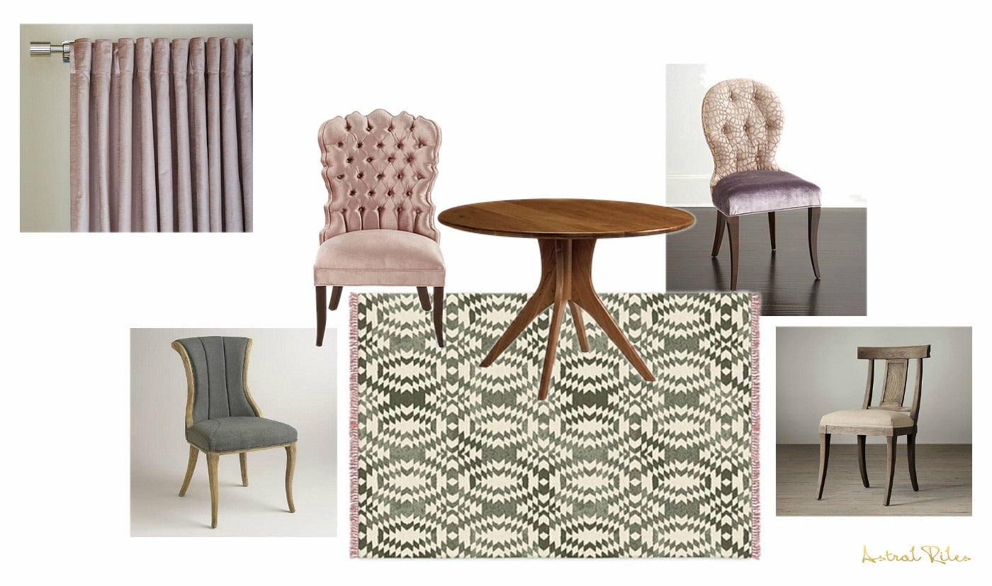 decorating with mismatched Dining Chairs - Astral Riles blog