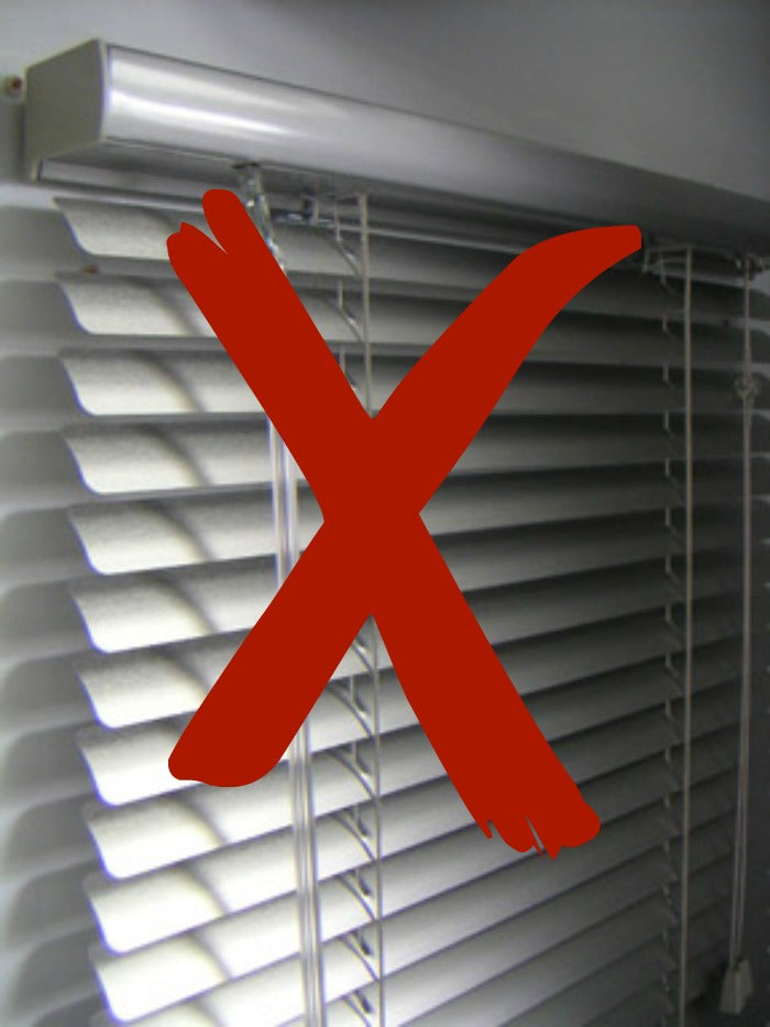 Say NO to vinyl mini blinds on astralriles.com