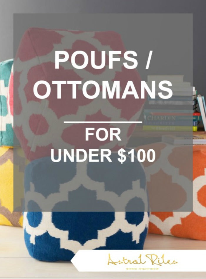 PIN - poufs ottomans under 100 dollars on astral riles