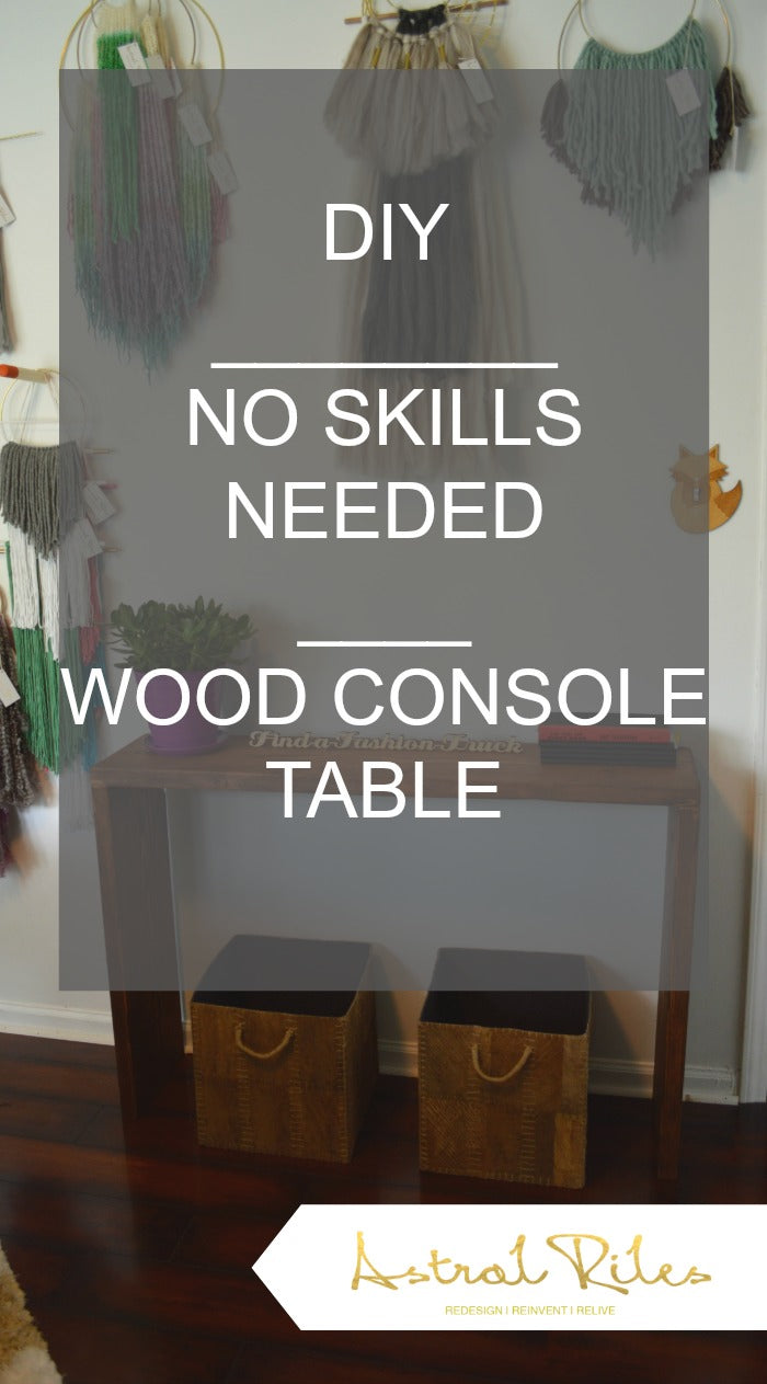 Pinterest - console table 3 - craft room redesign on astral riles