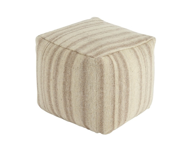 Signature Design by Ashley Striped Beige Pouf - $95 at  OVERSTOCK.COM