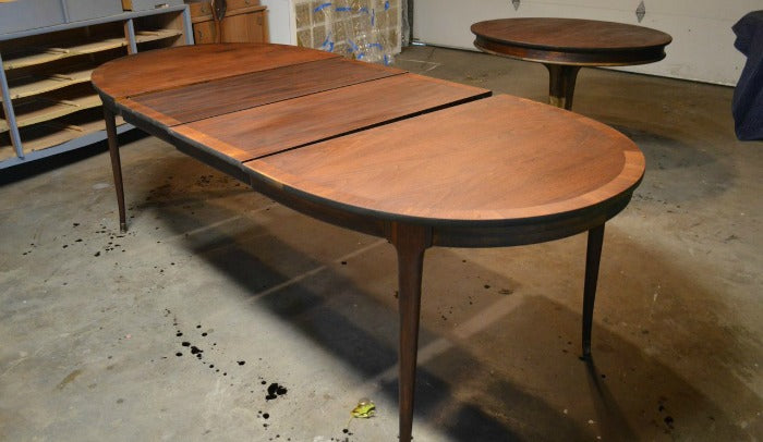 Staining 2 -  refinished MCM dining table on astralriles.com