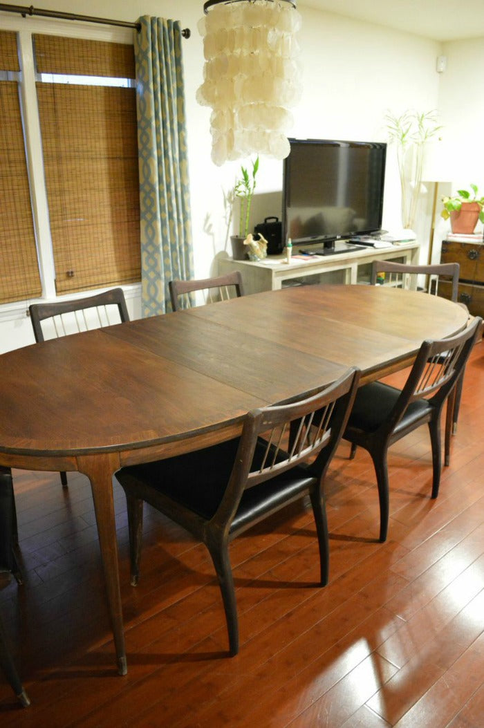 mid century modern dining table and chairs legs after refinished mcm house florence