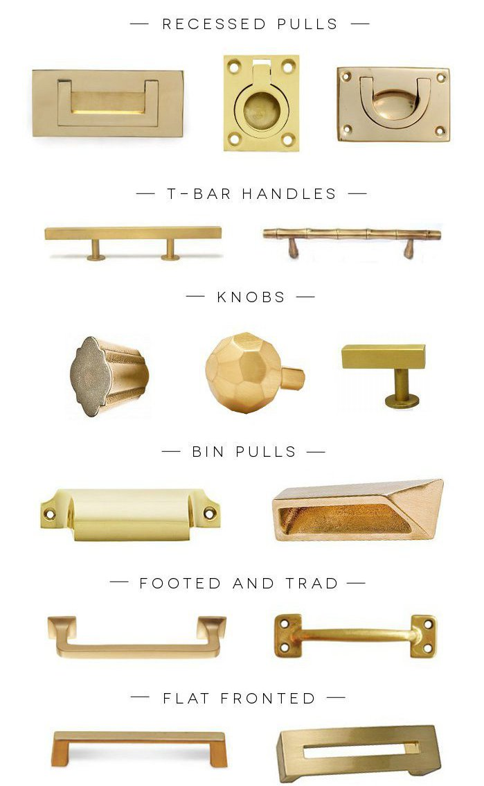 brass pulls and knobs hardware kitchen on astral riles