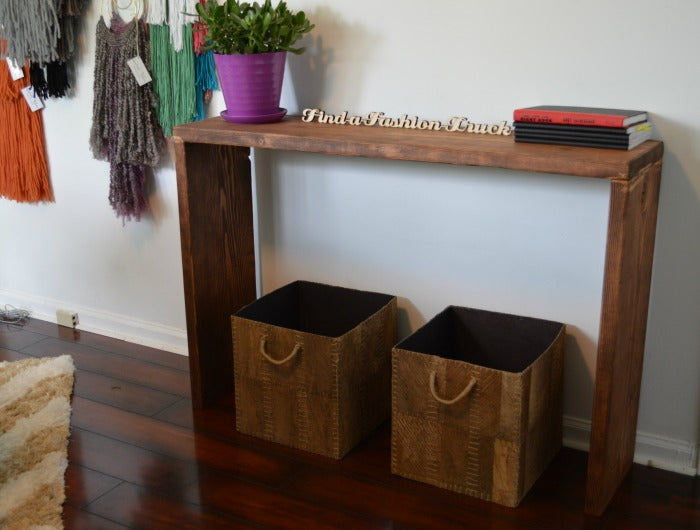 consle table - craft room redesign on astral riles
