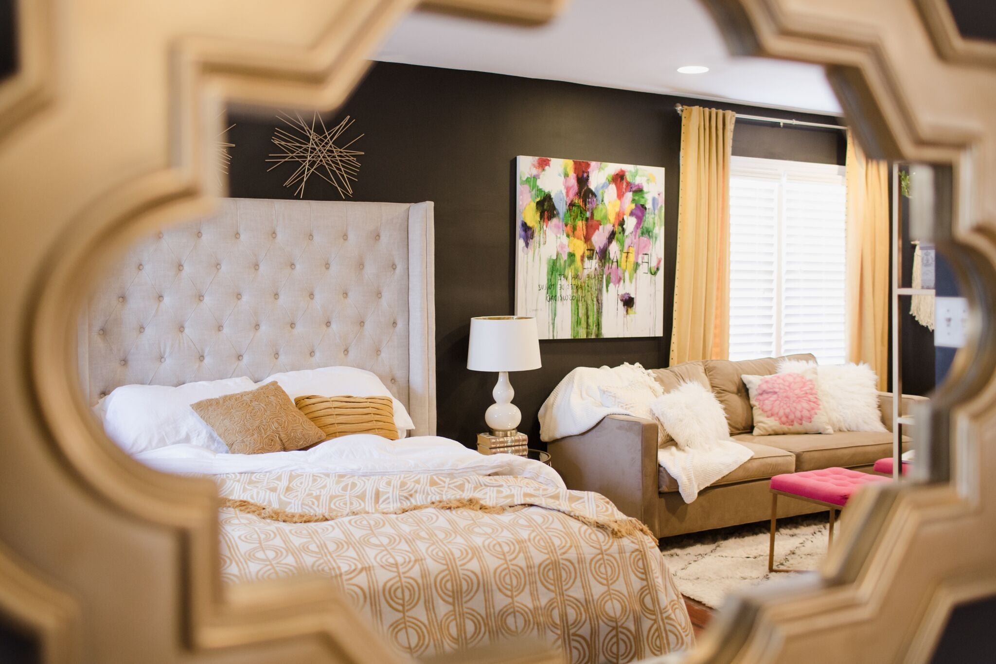 girly chic bedroom design on astral riles blog