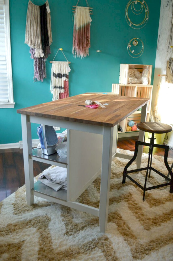 kitchen island as craft desk on astralriles 2
