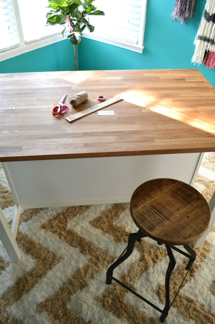 kitchen island as craft desk on astralriles 6