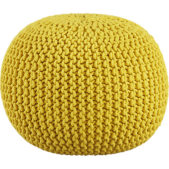 knitted yellow pouf -  $79 at CB2