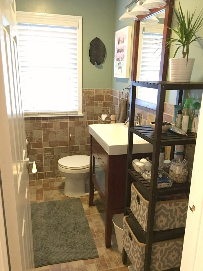 main - small bathroom update for under 100 on astral riles blog