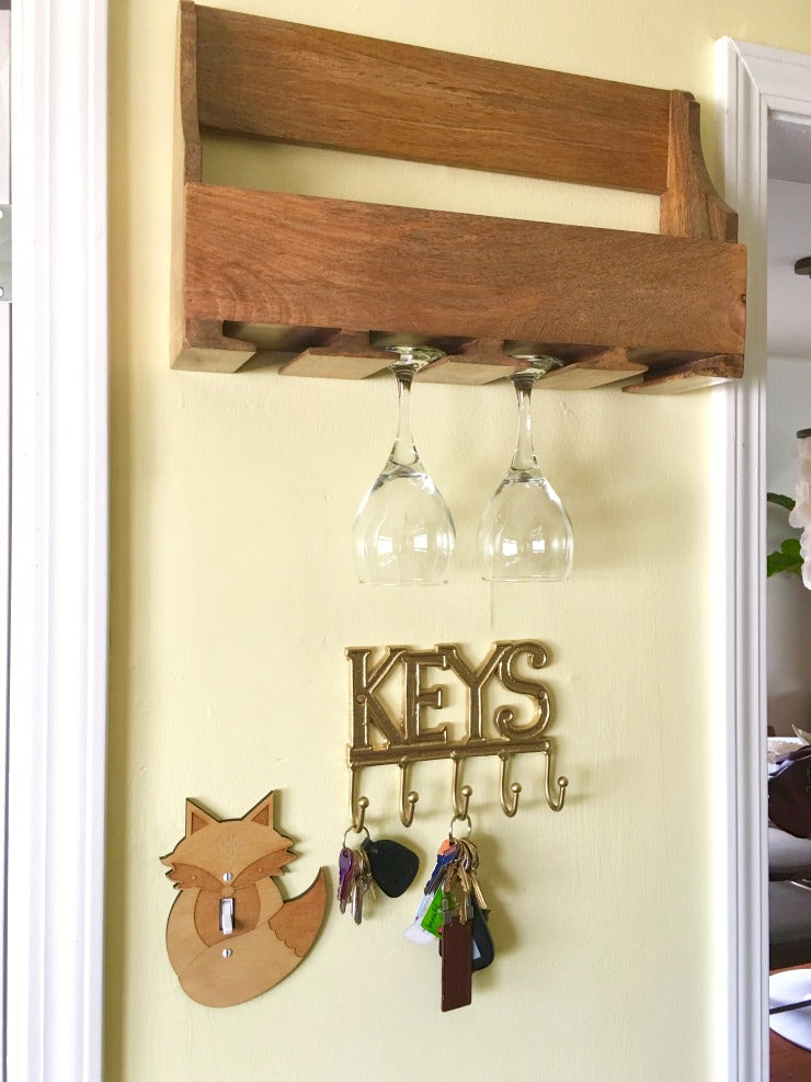 main - updated kitchen wall - dry wall repair and wine rack installation on astral riles blog