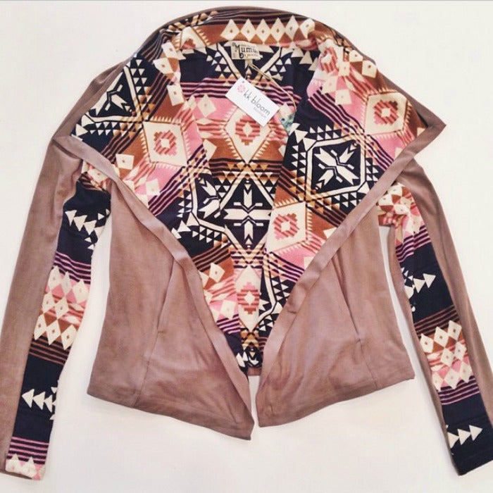 pink leather aztec jacket on astralriles.com