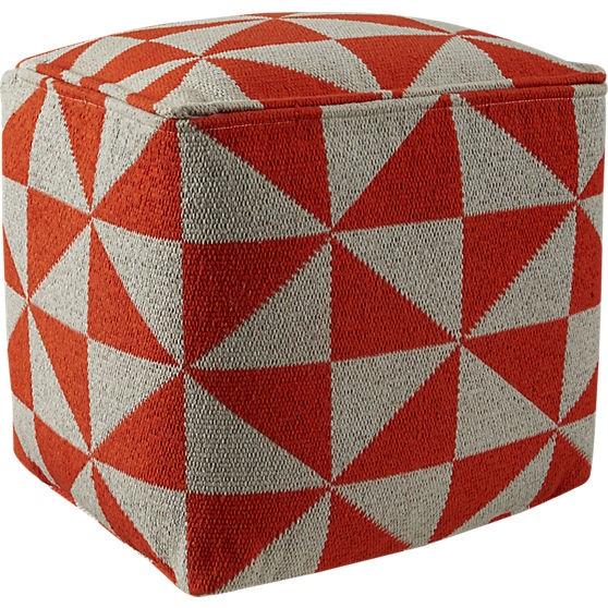 vane knitted pouf - $99 at CB2