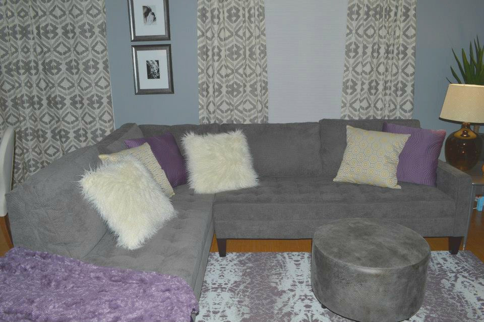 vapor sectional - livign room redesign on astral riles blog