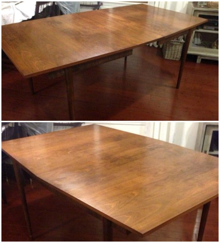 vintage danish mcm walnut dining table on astralriles.com