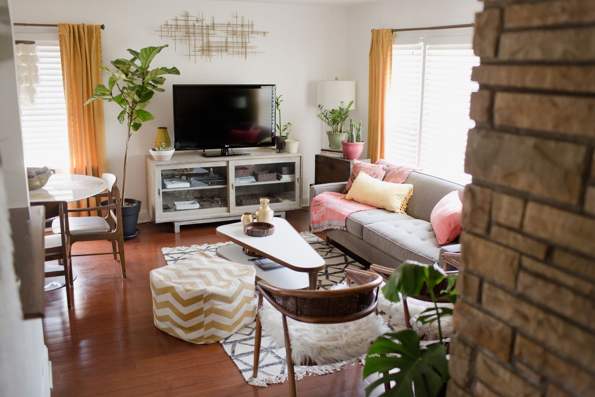 vintage modern living room design on astral riles blog