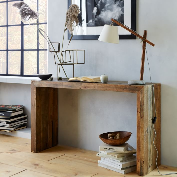 No Skills Needed Diy Wood Console Table Without Nails