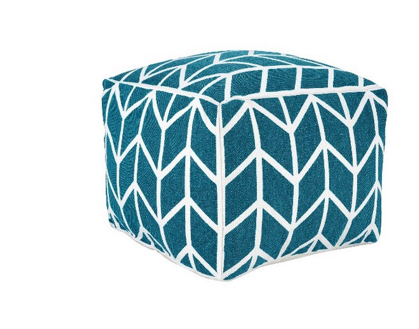 zig zag teal Threshold pouf - $59 at TARGET