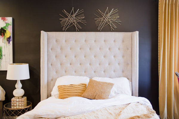 tall upholstered headboard - the adler bed from restoration hardware on astral riles blog