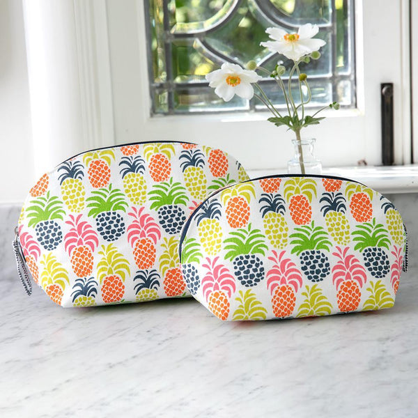 Pineapple Party Cosmetic Bags - Set of 2