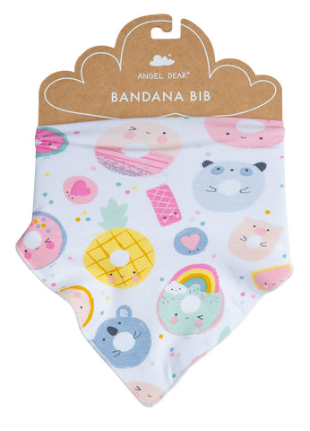 Bandana Bib in Donut Smiles