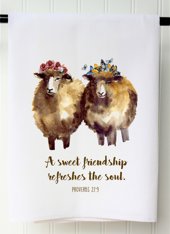 """Sweet Friendship"" Flour Sack Towel"