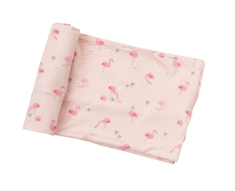 Flamingos Swaddle Blanket