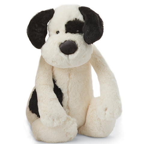 Bashful Black and Cream Puppy - Large Size