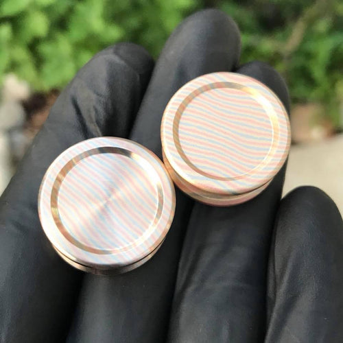 24.5mm Mokume Buttons