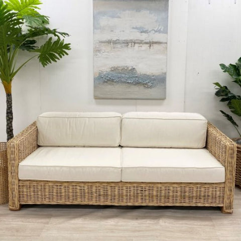 . P U  Marco Rattan Sofa - Pre Order Due March