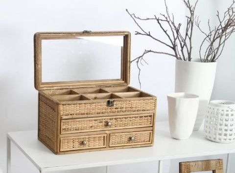 Tessa Rattan Jewellery Box-