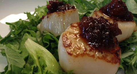 Seared Bacon Jam Scallops