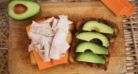 Turkey Bacon Jam Avocado Sandwich