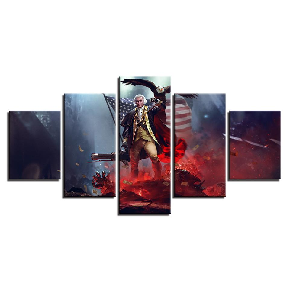 5 Panel George Washington American Canvas