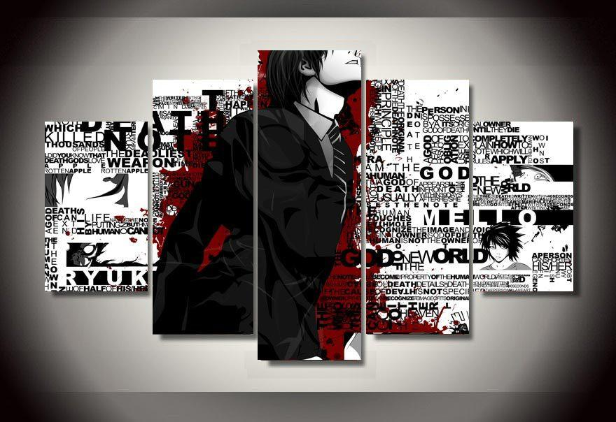 5 Piece Death Note Canvas