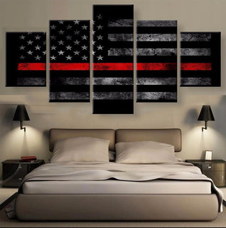 5 Panel American Thin Red Line Canvas