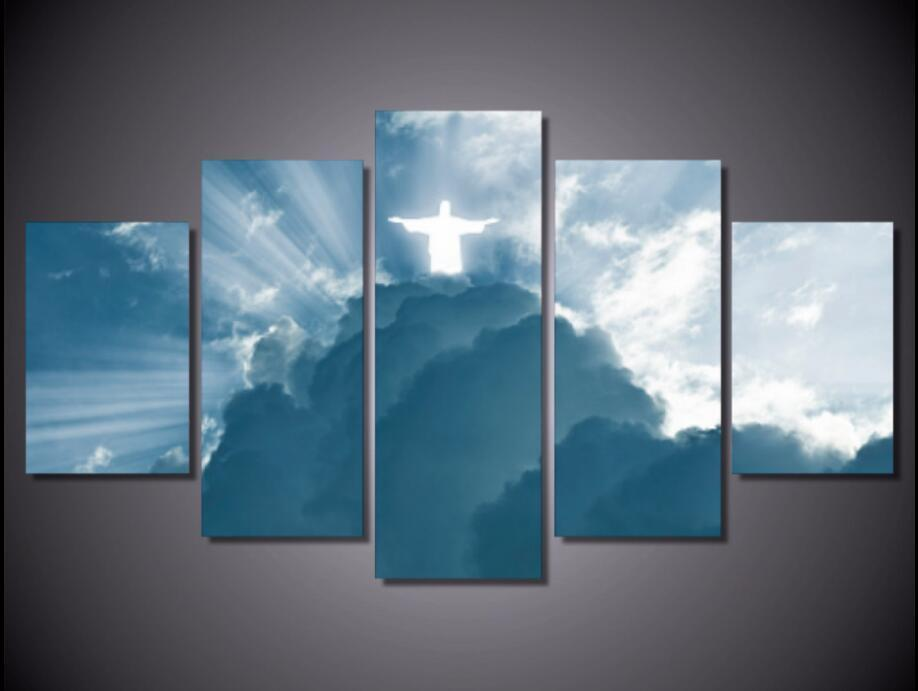 "5 Piece ""Jesus Is Coming"" Canvas"
