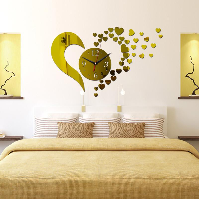 Quartz Heart Wall Clock Canvas