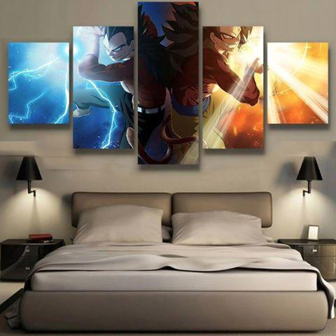 5 Piece DBZ Super Saiyon 4 Canvas