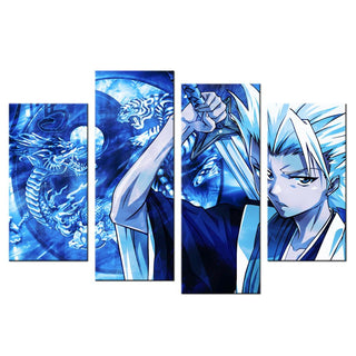 4 Piece Blue Art Bleach Canvas