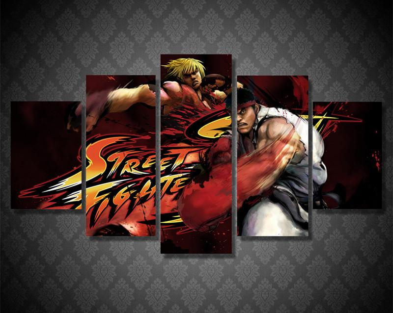 "5 Piece Street Fighter ""Ryu & Ken"" Canvas"