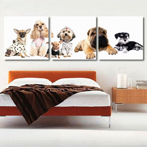 3 Piece Dog Canvas