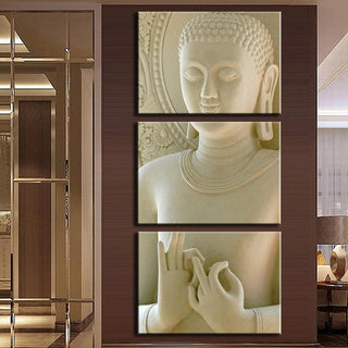 3 Piece Modern Buddha Canvas