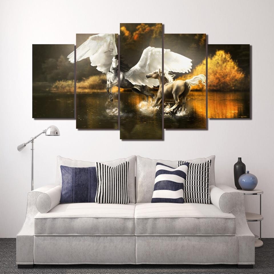 "Horse ""Calmness in the Water"" Canvas"