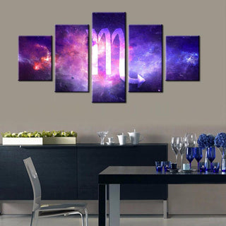 5 Piece Scorpio Zodiac Canvas