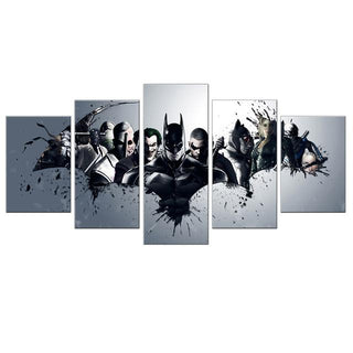 5 Panel Batman Canvas Superheroes