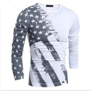 American Grey/White Long Sleeve