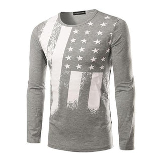 American Light Gray Flag Long Sleeve