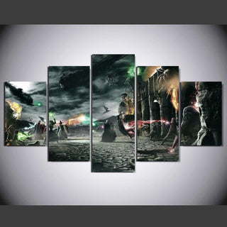 5 Panel Harry Potter Battle Canvas