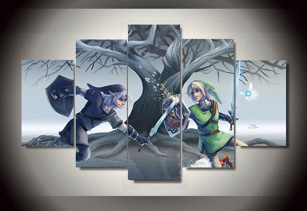 "Zelda ""Dark Link Vs Link"" Canvas"